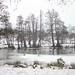 Wollaton Park Lake, partially frozen