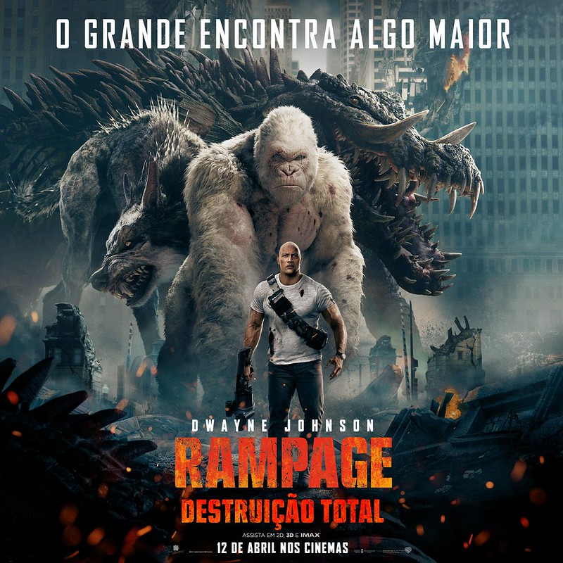 RAMPAGE POSTER DWAYNE THE ROCK JOHNSON Brazil