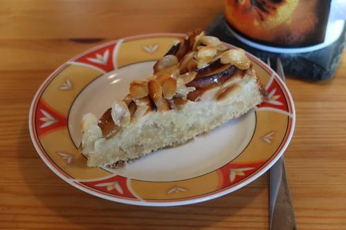 Veganer Apfel-Marzipan-Kuchen (mein 1. Stück)
