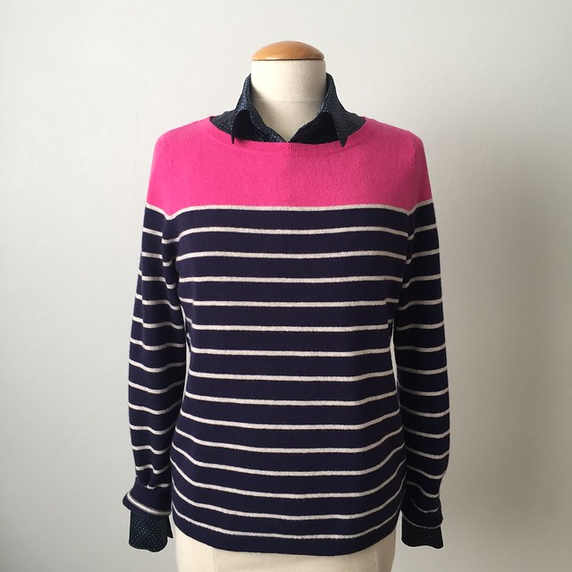 Burda silk blouse with sweater