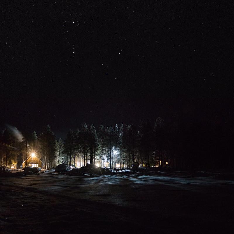"""""""Polyarny krug"""" under the stars"""