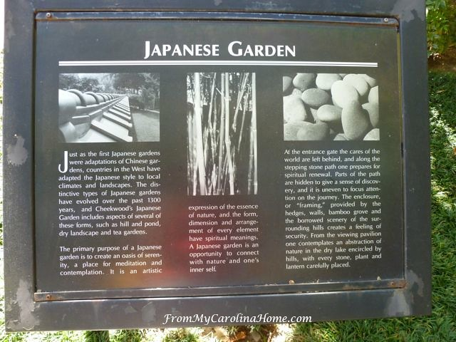 Cheekwood Japanese Garden at From My Carolina Home