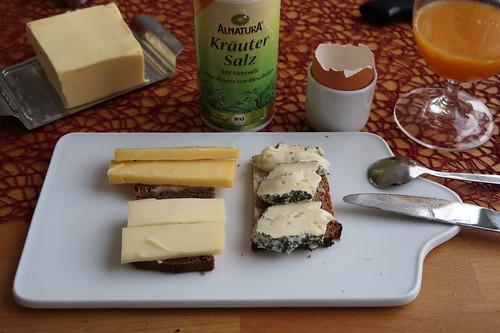 Käse auf Roggenbrot