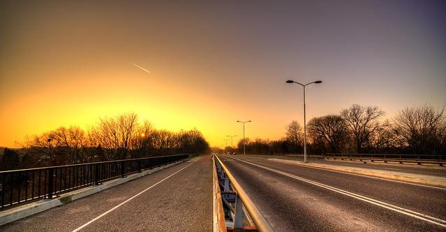The long road to Dukenburg, Nijmegen, The Netherlands.