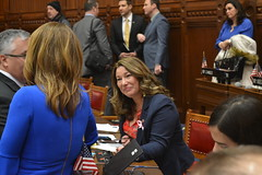 Rep. Ziobron shares a laugh with Minority Leader Themis Klarides