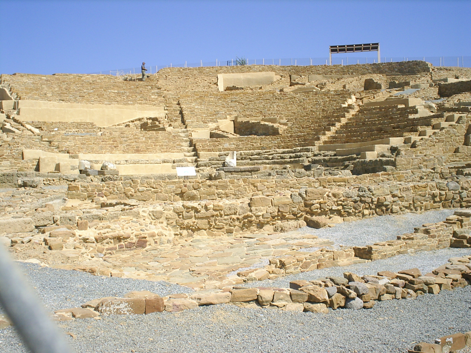 Ancient theatre in Hephaistia (Ἡφαιστία). Photo taken on June 11, 2007.