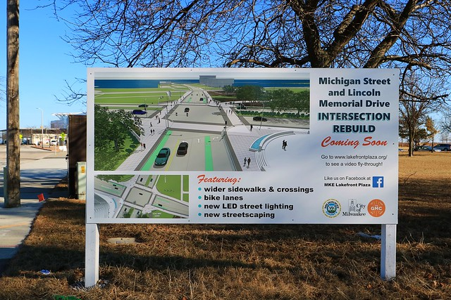 Intersection improvements: E MIchigan Street and N Lincoln Memorial Dr