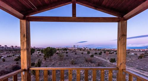 mirador vigia valdebebas nikon d810 1635 parque park sunrise amanecer windows