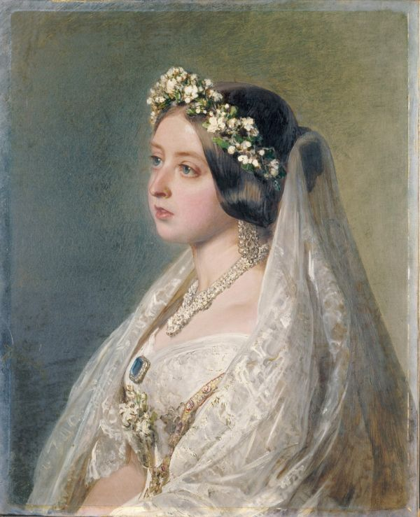 Portrait painted by Franz Xaver Winterhalter, 1847, as an anniversary present for Prince Albert.