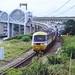 The Tamar bridges & InterCity train, Devon, 23rd July 1992