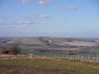 Mount Caburn from South Downs Ridge