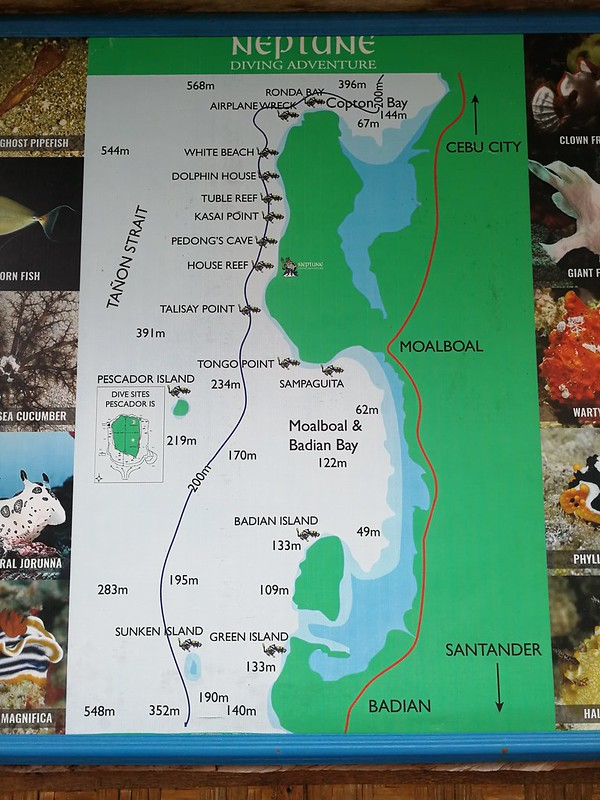 Dive sites map_Карта дайв-сайтов