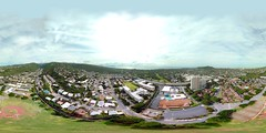 Wilson Community Park in Waialae as seen from my DJI Mavic Pro hovering 391 feet up - an aerial 360° Equirectangular VR