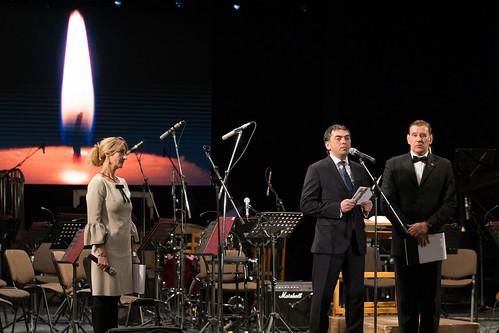 25.01.2018 Vicepreședintele Parlamentului Vladimir Vitiuc la ceremonia de comemorare a victimelor Holocaustului.