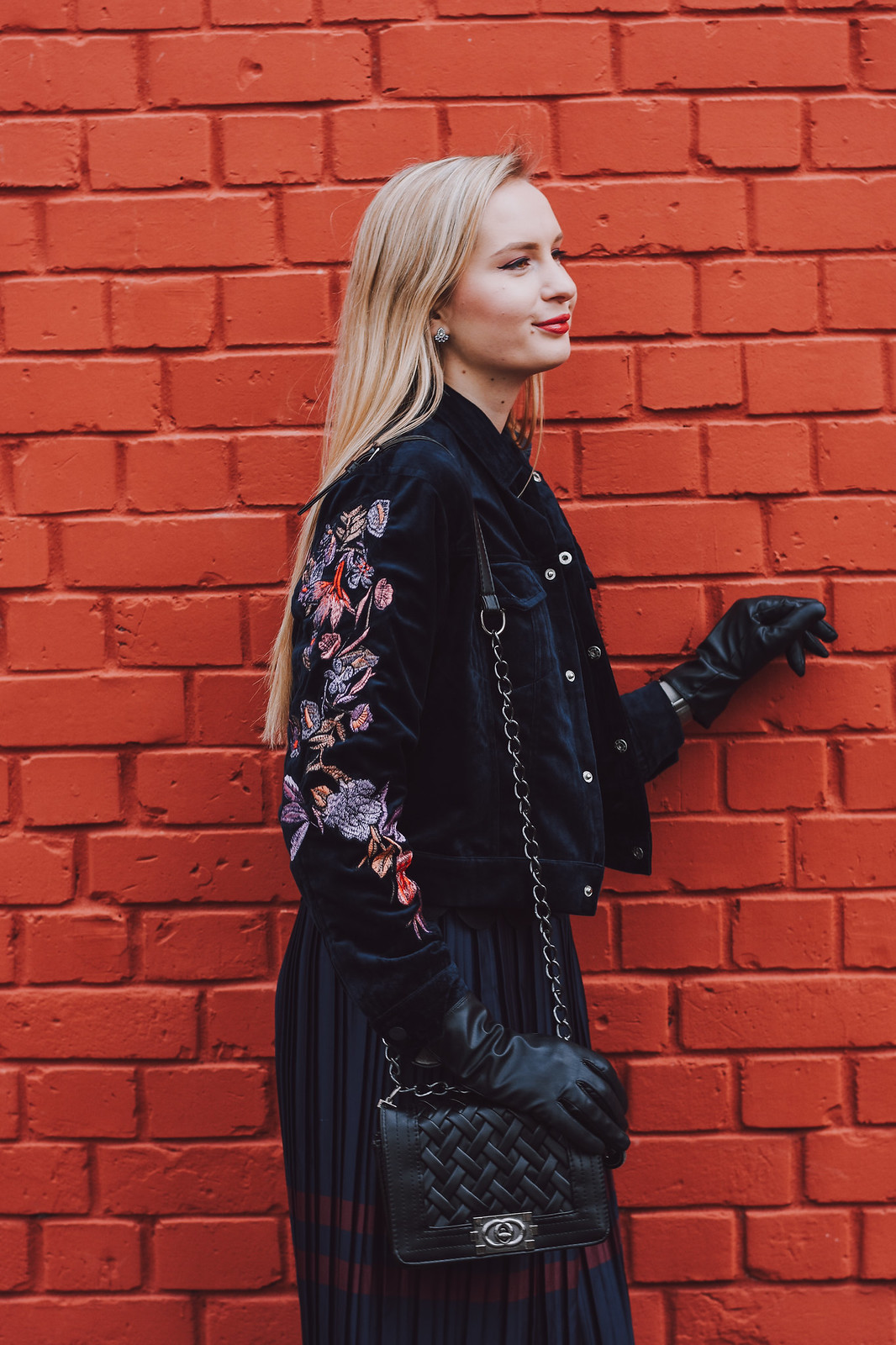 How to style embroidered jacket