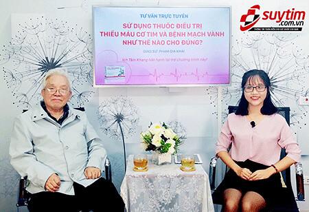 GS. TS Phạm Gia Khải tư vấn thiếu máu cơ tim, bệnh mạch vành