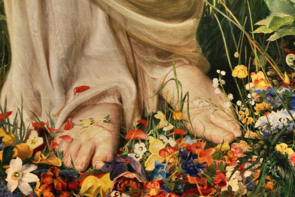 Tableau représentant l'arrivée du printemps au musée Ashmolean Museum d'Oxford.
