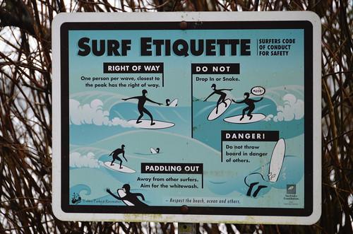 Tofino - Surf etiquette