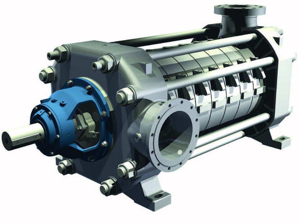 В промышленности нередко применяются многоступенчатые лопастные насосы.