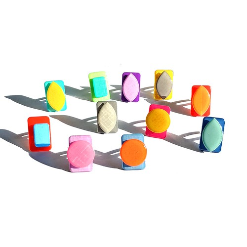 LC Studios Resin-Coated Paper Rings - Palette Collection