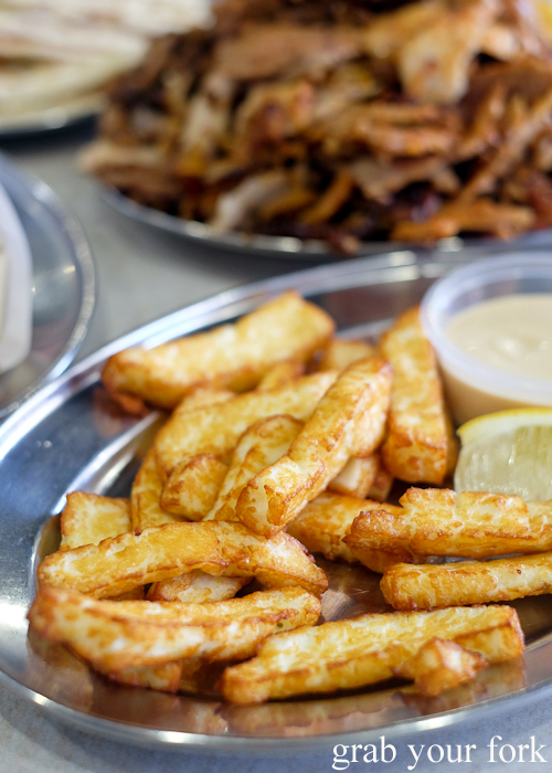 Haloumi fries at Yiro Yiro Greek kebab shop in Belmore