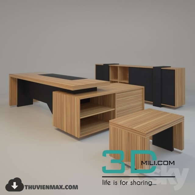 Office Table 3D Models Free Download   3D Mili   Download 3D Model   Free  3D Models   3D Model Download