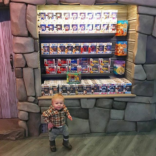 Baby and I checked out the Funko store today.