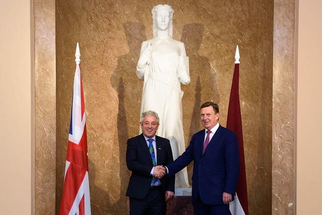 Ministru prezidents Māris Kučinskis tiekas ar Apvienotās Karalistes parlamenta Pārstāvju palātas spīkeru Džonu Berkovu