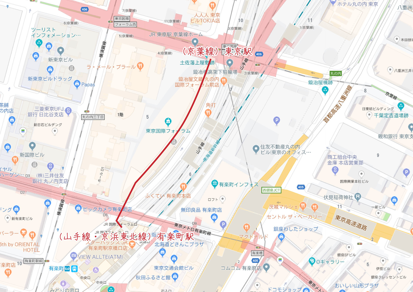 keiyo_line_yurakucho_map