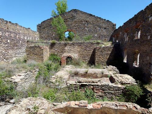 HIENDELAENCINA (Guadalajara). Sierra Norte. Spain. 2014. Ruinas de la mina Santa Teresa.