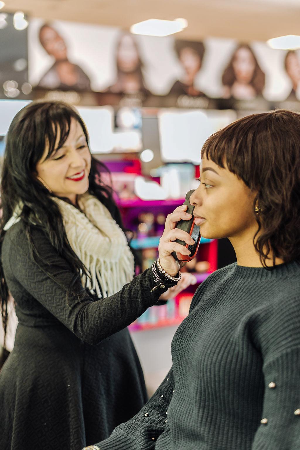 fenty face makeover, Sephora inside JCPenney