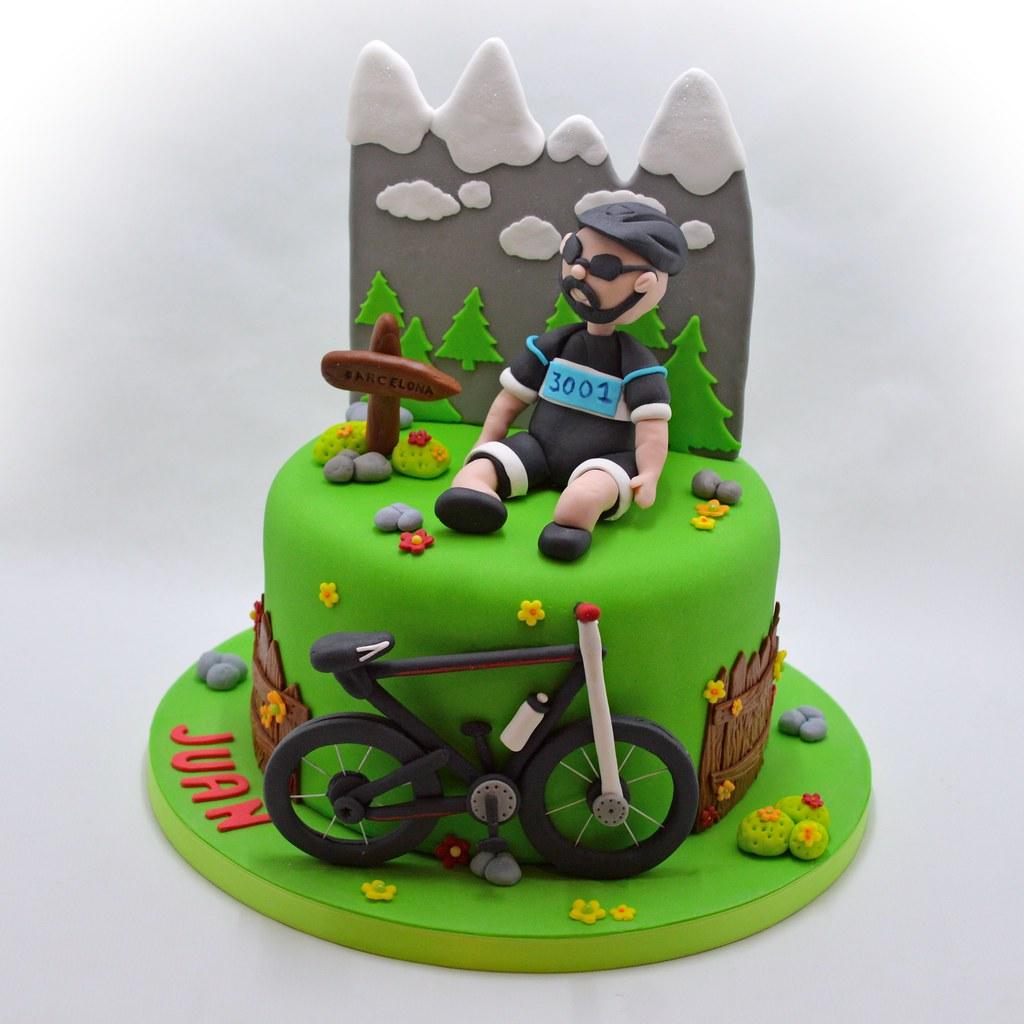 Cyclist Birthday Cake Patricia Creative Cakes