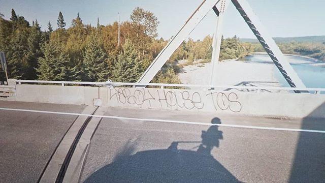 TBBOY HOUSE TOS. #ridingthroughwalls #xcanadabikeride #googlestreetview #ontario #tag #graffiti
