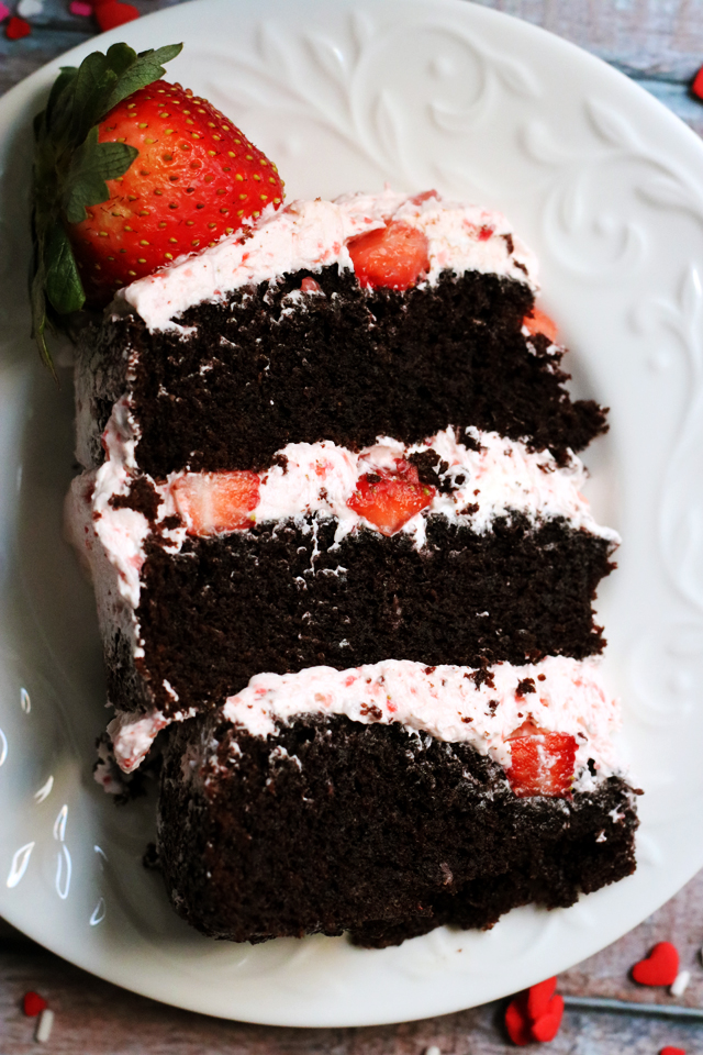 Dark Chocolate Covered Strawberry Layer Cake Joanne Eats