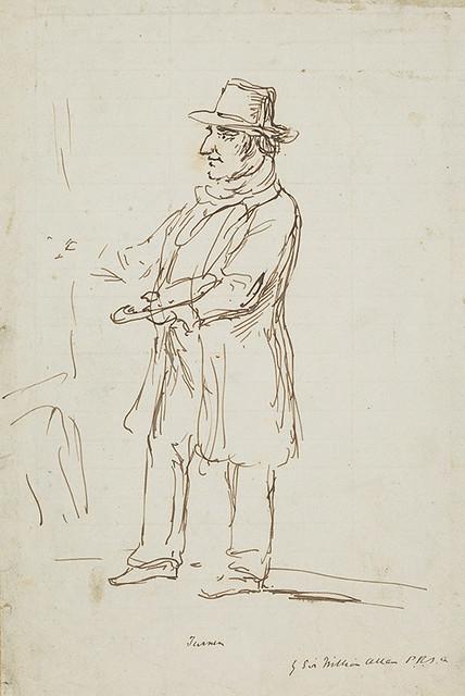 ウィリアム・アラン《ジョゼフ・マロード・ウィリアム・ターナー》制作年不詳 インク・紙 エディンバラ、スコットランド国立美術館群(C)Trustees of the National Galleries of Scotland