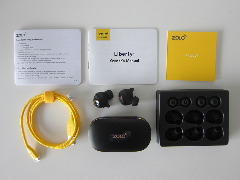 Liberty+ Wireless Earphones - Box Contents
