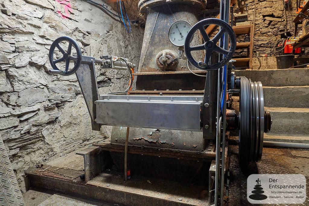 Turbine zur Stromerzeugung der Strotzbüscher Mühle
