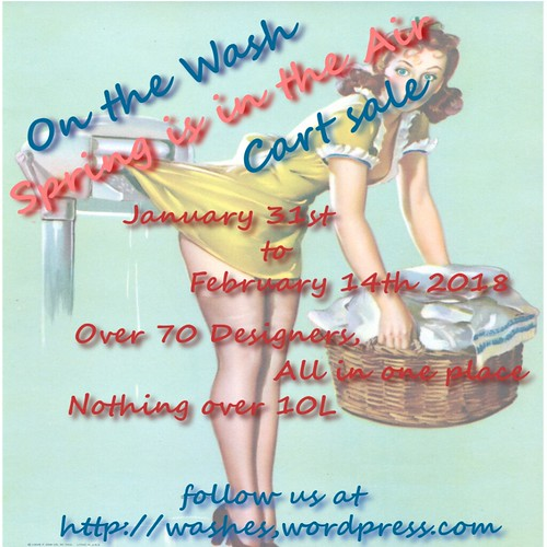 Spring is Here On the Wash Cart sale Poster Jan 2018