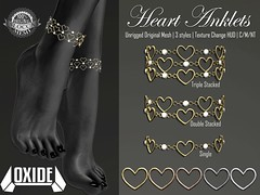 OXIDE Heart Anklets - XOXO Hunt