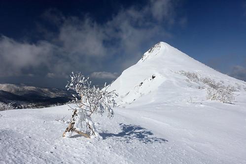 徳舜瞥山と樹氷