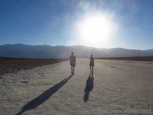 evening at badwater basin anne s travels