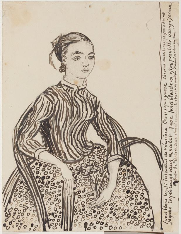 《ムスメの肖像》(1888年、プーシキン美術館蔵、~2月12日)