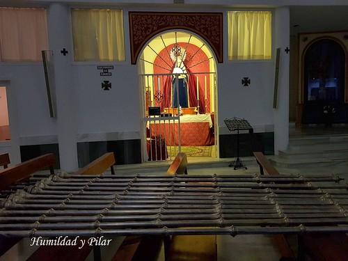 Nuevos varales del palio de la Virgen del Pilar de Montequinto