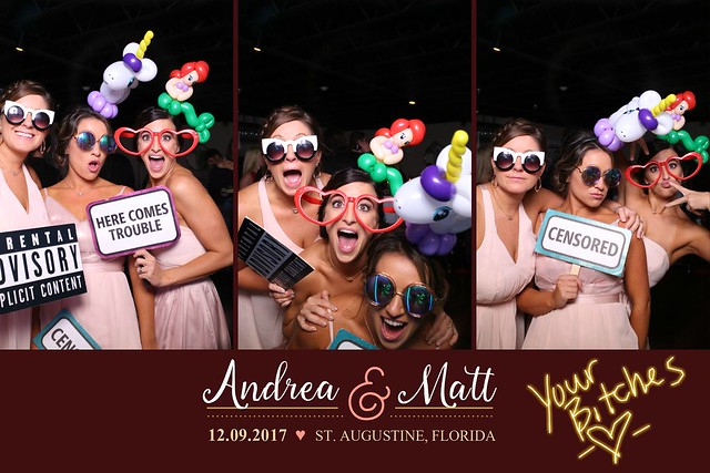 white room st. augustine wedding photo booth mirror photobooth