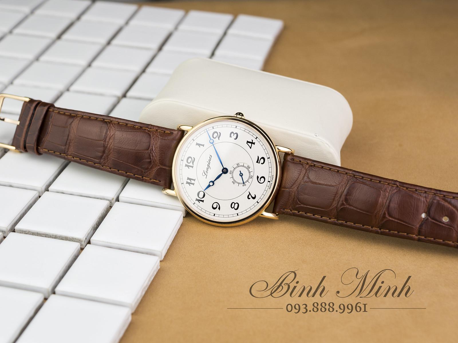 Đồng hồ Longines Presence Heritage Automatic Vàng Khối 18K, mới 100%, full hộp sổ thẻ.