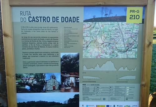 Panel informativo - Ruta do Castro de Doade
