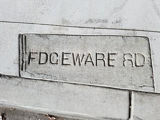 Street Name Curb Marker - Edgeware Rd