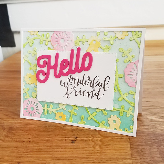 Lizzie Jones - Hello Wonderful Friend Card