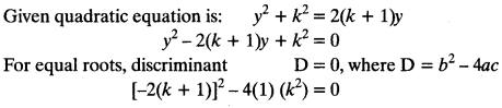 Quadratic Equations Chapter Wise Important Questions Class 10 Mathematics 89