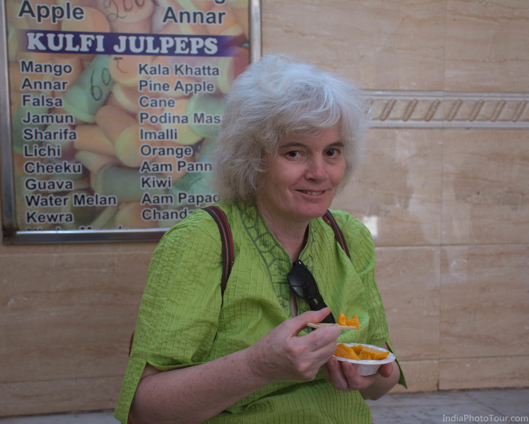 Having a taste of local kulfi (icecream)